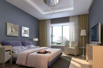 Nghệ thuật trang trí phòng ngủ đẹp hiện đại với rèm cửa sổ