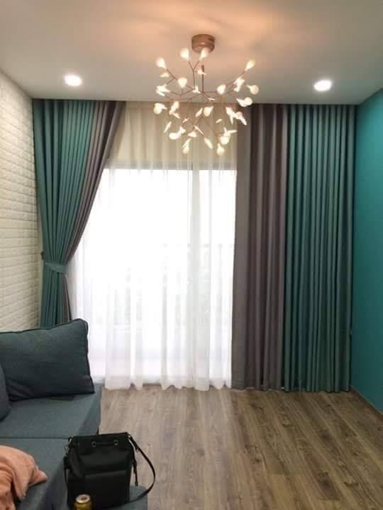 Rèm vải chống nắng phòng khách